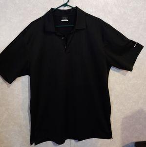 Nike Golf Fit Dry Polo Shirt Mens Black Vented XL
